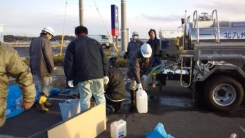 北九州市水道局による給水支援