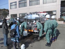 広島市水道局による給水支援