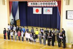 児童と教職員による合同合唱