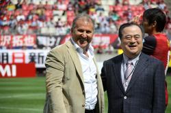 ジーコ氏と橋本茨城県知事