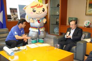 橋本知事にお会いしました