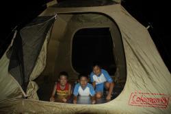テントで宿泊