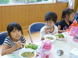 なめがた産野菜の昼食