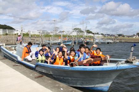 水産教室いざ出航