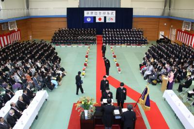 卒業式全景