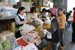 行方産農産物を提供