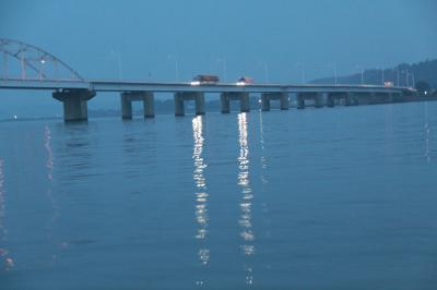 日の出前の北浦