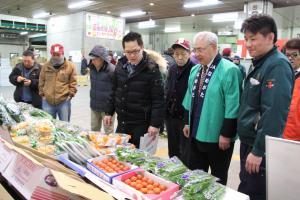 組合長が安心安全な行方産野菜をPR
