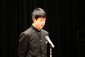 『平成26年度主張作文発表者(中学校・優良賞)』の画像
