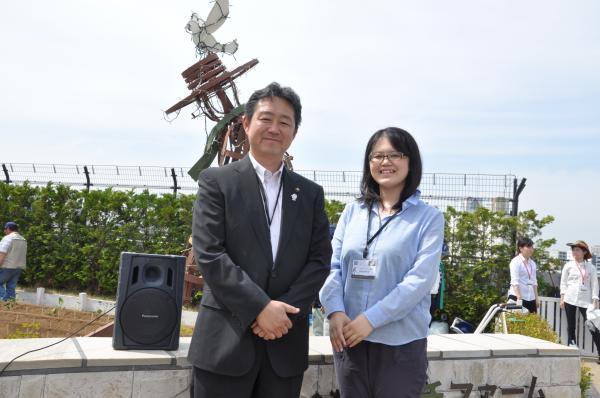 『額賀さんと市長』の画像