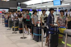 『27年度中学生海外派遣研修成田空港』の画像