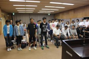 『27年度中学生海外派遣研修事業解団式3』の画像
