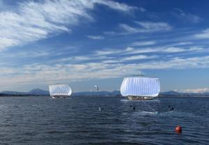 『霞ヶ浦と帆引き船』の画像