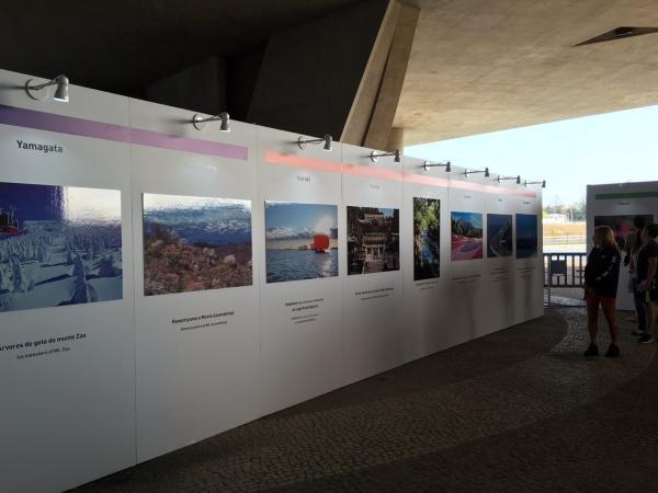 『リオ五輪「七色帆引き船」展示(2)』の画像