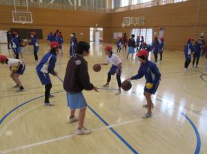 『出前授業2バスケ(北浦小)』の画像