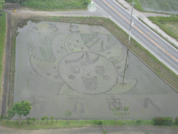 『田んぼアート』の画像