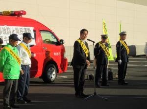 『20171213年末交通事故防止街頭キャンペーン挨拶』の画像