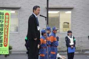 『20171215年末県下一斉街頭活動出発式挨拶』の画像