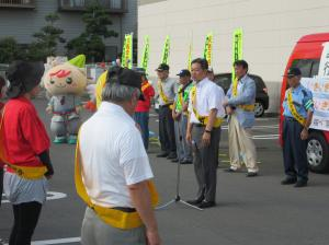 『夏の交通事故防止県民運動行方市街頭キャンペーン(1)』の画像