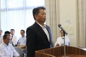 『2018出発式 青木校長あいさつ』の画像