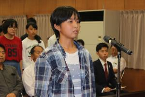 『2018海外派遣解団式生徒代表あいさつ』の画像