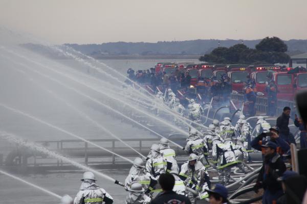 『2019出初式一斉放水』の画像