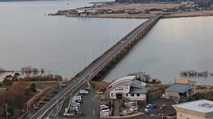 2020初日の出 霞ヶ浦大橋