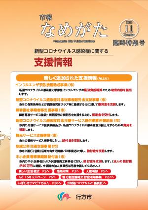 【表紙画像】市報なめがた臨時特集号【新型コロナウイルス感染症に関する支援情報】(令和2年8月)