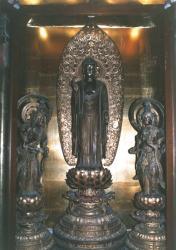 萬福寺 阿弥陀所来立像及び両脇侍像