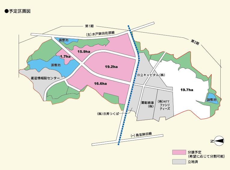 北浦複合団地予定区画図